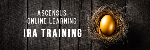 Acensus Online Learning: IRA Training